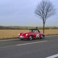 Fotografie RWAC Winterrallye 2012 Porsche auf Landstraße
