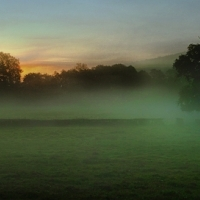 Landschaftsbild aus Couches